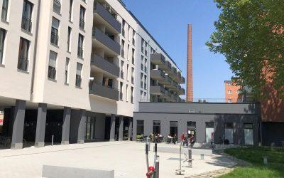 Wohnanlage mit Gewerbeeinheiten in Salamander Areal in Kornwestheim