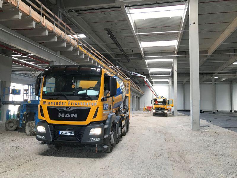 Industriefußböden und Außenanlagen – Daimler Prototypenpark in Waiblingen